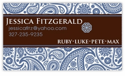 Passion Paisley Brown Calling Card