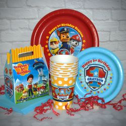 Paw Patrol Birthday Basics Personalized Party Pack for 12