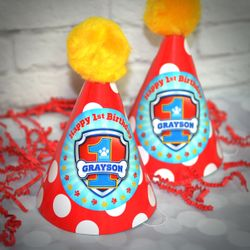 Paw Patrol Birthday Party Personalized Guest Party Hats