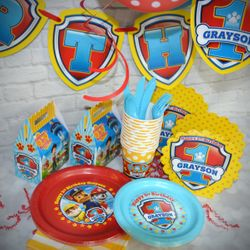 Paw Patrol Birthday Ultimate Personalized Party Pack for 12