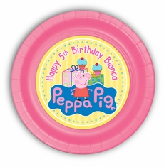 Peppa Pig Party Personalized 9inch Meal Plates