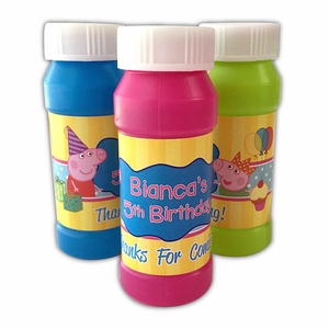 Peppa Pig Party Personalized Bubbles Favors