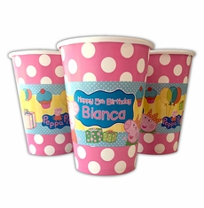 Peppa Pig Personalized Party Cups
