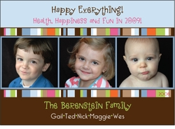 Photo Row in Blue Holiday Card
