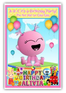 Pin the Party Hat on Baby Gaa Gaa Party Game