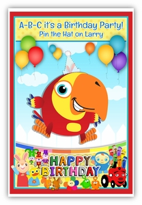 Pin the Party Hat on VocabuLarry Party Game