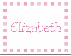 Pink Blocks Note Cards