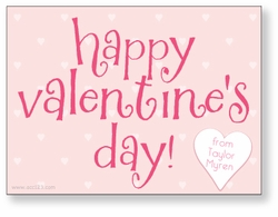Pink Dots Personalized Valentine