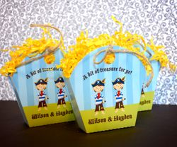 Pirate Twin Boys Birthday<br>Personalized Favor Tote
