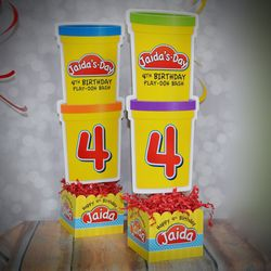 Play-Doh Birthday Party Large Personalized Table Centerpiece