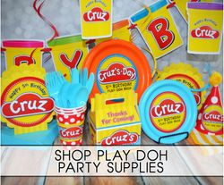 Play Doh Birthday Party Supplies