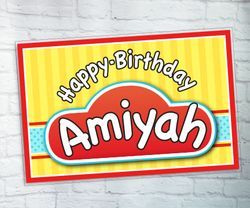 Play-Doh Large Personalized Birthday Party Signs