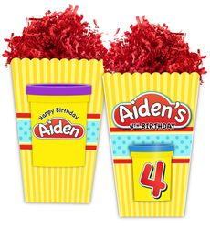 Play Doh Party Large Popcorn Box
