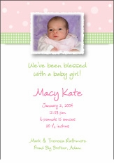 Pleasing Patterns Girl Photo Announcement