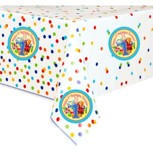 BabyFirst Party Table Cover with Custom TV Favorites Stickers