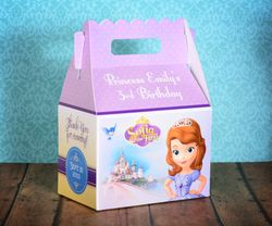 Princess Sofia the First Party Gable Favor Box<br>Castle