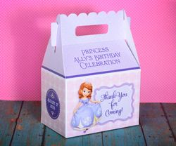 Princess Sofia the First Party Gable Favor Box<br>Pink & Purple