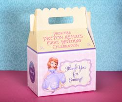 Princess Sofia the First Party Gable Favor Box<br>Pink & Yellow