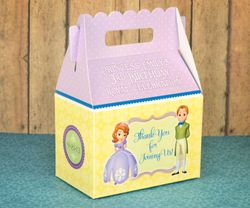Princess Sofia the First Party Gable Favor Box<br>Sofia & James with Purple