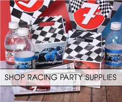 Race Car Checkered Flag Party Supplies