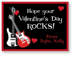Rockin� Guitars Personalized Valentine