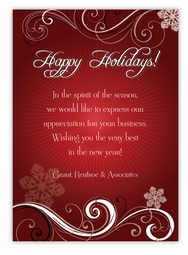 Ruby Elegance Corporate Christmas Card