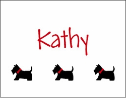 Scottie Dogs Note Card