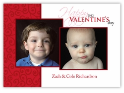 Soft Swirls Valentine's Day Photo Card