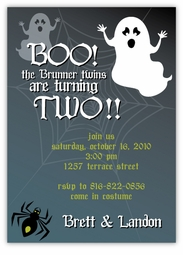Spooky Ghosts Halloween Party Invitation
