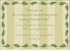 Stripes & Leaves Invitation