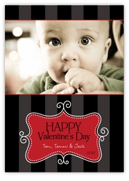 Sweet Swirly Message Valentine�s Day Photo Card