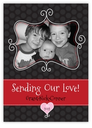 Sweet Swirly Photo Frame Valentine�s Day Card