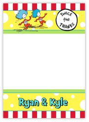 Thing 1 Thing 2 Twin Boys Thank You Note Card