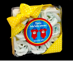"""Thing 1 & Thing 2 Twins Baby Shower 2.25"""" Stickers"""