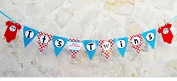 Thing 1 & Thing 2 Twins Baby Shower Pennant Banner