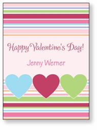 Three Hearts Personalized Valentine