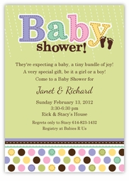 Tiny Bundle Custom Baby Shower Invitation