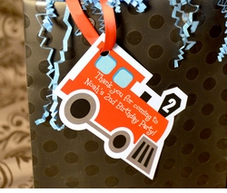 Birthday Train<br>Personalized Favor Tags