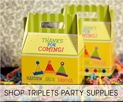 Triplets Birthday Party Supplies