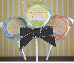 Triplets Cupcakes Birthday<br>Personalized Lollipop Favors