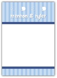 Twins Pins Boys Baby Shower Thank You Note Card