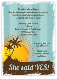 Vintage Style Island Surf Party Invitation