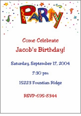 Wild Party (Bold) Invitation