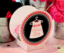 Zebra Diva Baby Shower<br>Pair of Personalized Mini Table Decorations