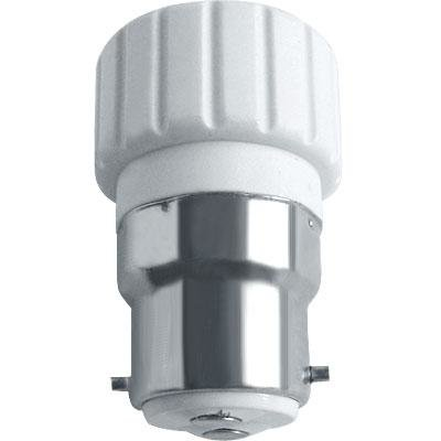 B22 to GU10 White Light Lamp Bulb Socket Adapter