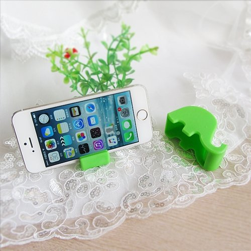 Elephant Cellphone Stand Holder - Green