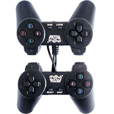 USB Dual Player Double Shock Game Controller