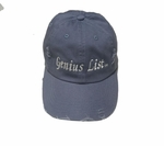 Genius List blue rugged baseball cap