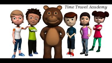 """Time Travel Academy ® animated learning video series; featuring """"Randy"""" the time traveling teddy bear."""