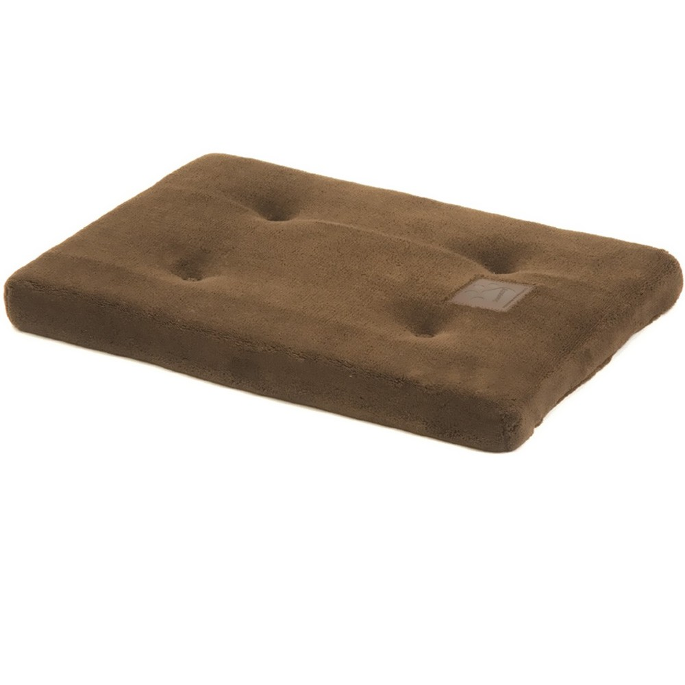 Give your dog a soft and comfortable place to nap with the SnooZZy Matress. Softens crates, carriers, homes, or anywhere your pet likes to spend time relaxing! This mattress is made with Plush Baby Terry Fabric and features pressed fiber fill that warms your pet in the winter and cools your pet in the summer and non-skid backing. Designed to fit within crates, you can also use directly on the floor to cushion your pet. Machine-wash in cold water, gentle cycle. Wash separately. No bleach. Tumble Dry Low or Dry flat.